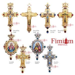 Хрести нагрудні бронзові №2