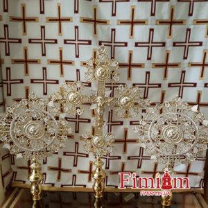 Хрест з рипідами 105-28