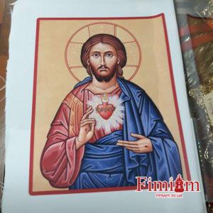 Ікона на полотні Непорочне Серце Ісуса