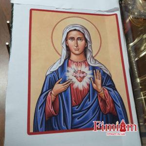Ікона на полотні Непорочне Серце Марії