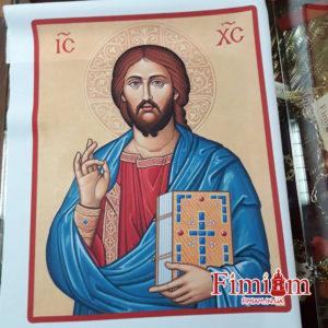 Ікона на полотні Христос Пантократор №1