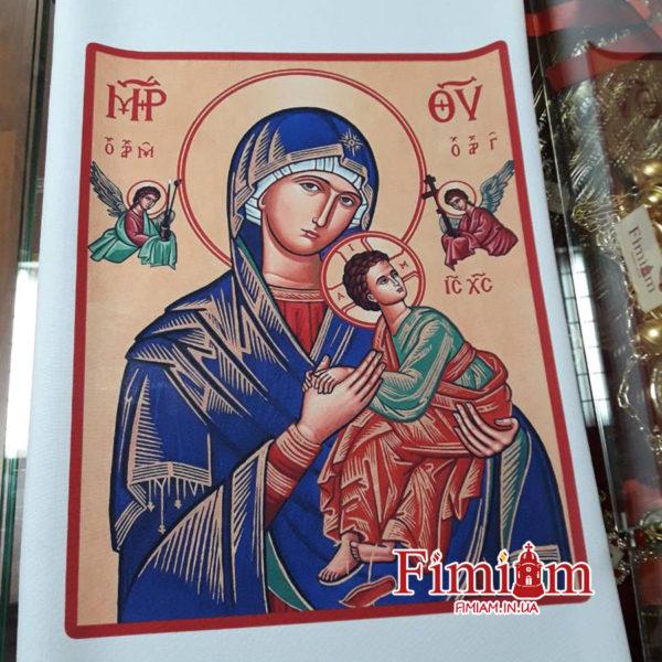 Ікона на полотні Матері Божої Неустанної Помочі