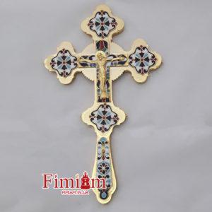 Хрест напрестольний смальта 16-07