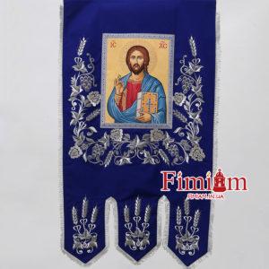 Хоругви (пара) Ісус Христос – Богородиця