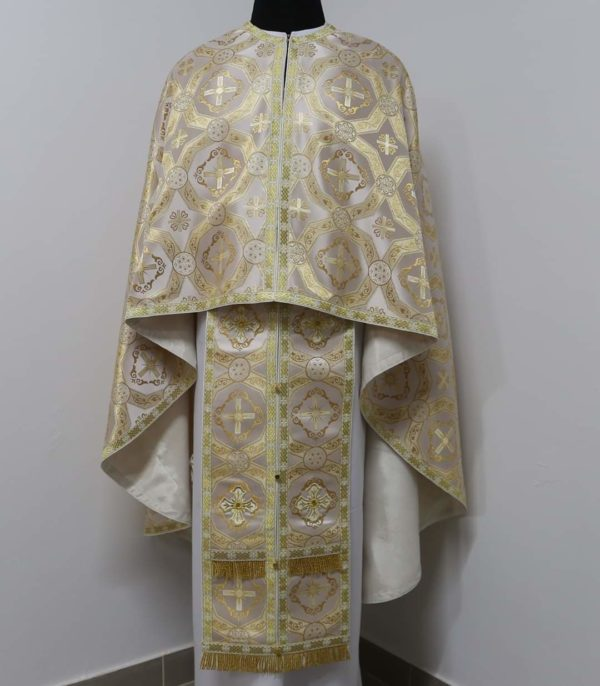 Ризи ієрейські  біло-золоті №12