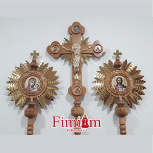 Хрест виносний з патерицями №1