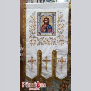 Хоругви вишиті (пара) Ісус Христос – Богородиця