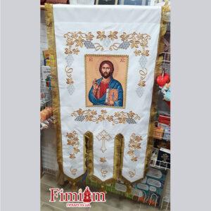 Хоругви вишиті (пара) Ісус Христос №2
