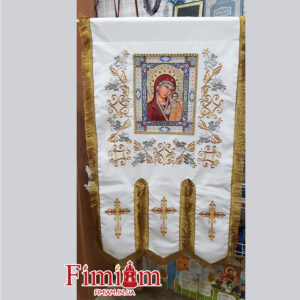Хоругви вишиті (пара) Богородиця №1