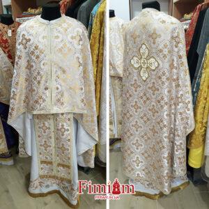 Ризи ієрейські біло-золотисті №18