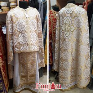 Ризи ієрейські біло-золотисті №19