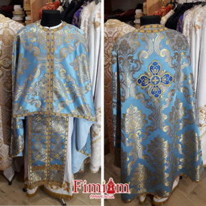 Ризи ієрейські блакитно-золотисті №23