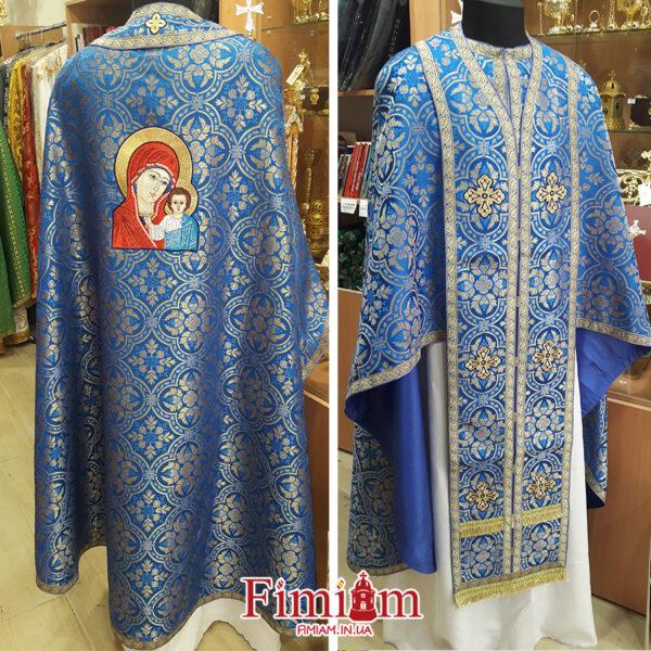 Ризи ієрейські синьо-золотисті №32