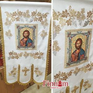 Хоругви вишиті (пара) Ісус Христос №3