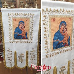 Хоругви вишиті (пара) Богородиця №4